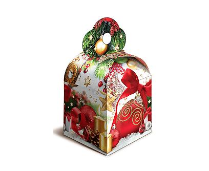 Новогодний подарок в картонной упаковке Кубик новогодний