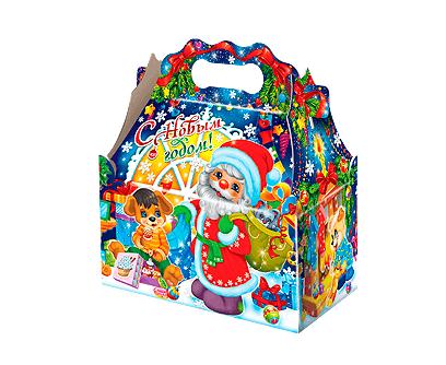Новогодний подарок в упаковке из микрогофрокартона - Ларец Семейный уют