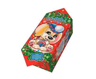 """Новогодняя упаковка для подарков """"Конфета Щенок"""" 0,3 картон"""