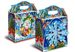 """Новогодняя упаковка для подарков """"Снежинка"""" 1-1, 2кг,МГК"""