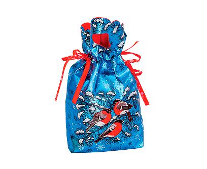 """Упаковка текстильная для подарков на новый год """"Снигири"""""""