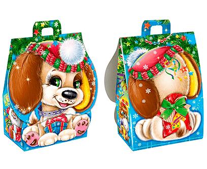Новогодний подарок в картонной упаковке Малыш Тим