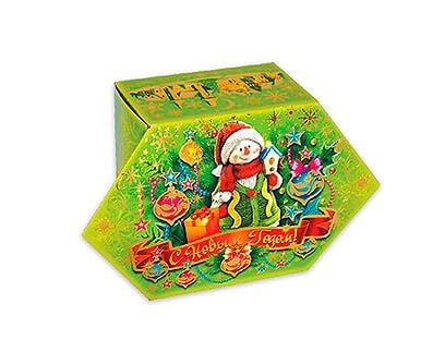 Новогодний подарок в картонной упаковке Вкусняшка лайм