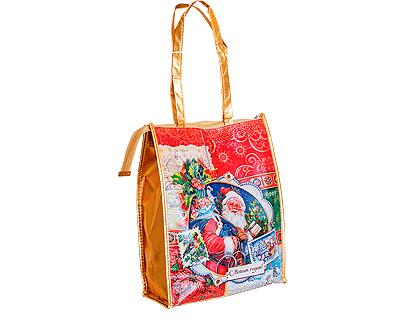 Новогодний подарок в текстильной упаковке - Сумка Новогодняя