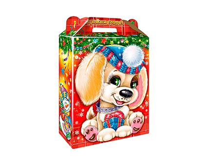 Новогодний подарок в упаковке из микрогофрокартона - Подарок Лапуля