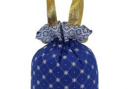Новогодний подарок «Мешочек Узорный синий», фото 3