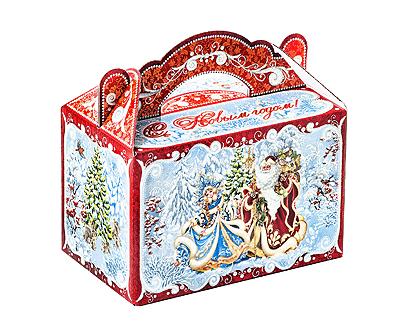 Новогодняя упаковка – «Чемоданчик Снегурочка и Дед Мороз»