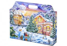 Новогодняя упаковка – «Портфельчик Закат»