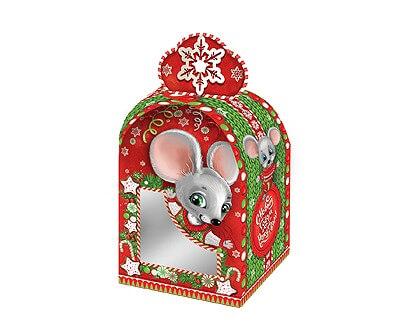 Новогодний подарок «Коробочка Вязаная» с окном