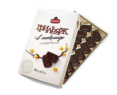 Подарочный набор конфет «Грильяж в шоколаде»