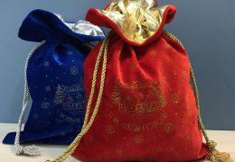 Новогодний подарок «Мешочек бархатный синий», фото 5
