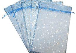 Новогодний подарок «Мешочек из органзы синий», фото 2