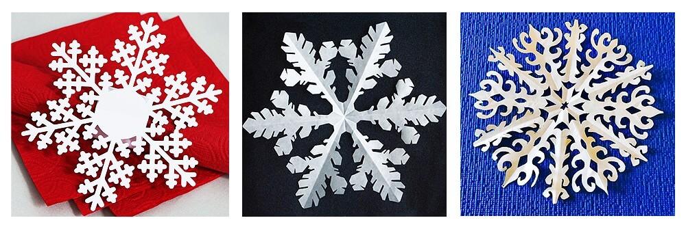 Снежинки на елку из бумаги