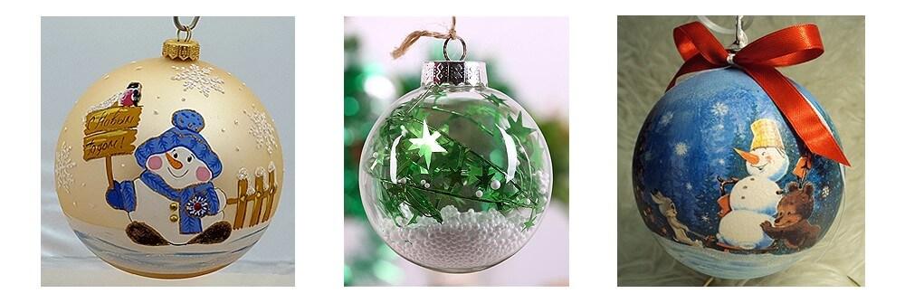 Стеклянные шары на новогоднюю елку