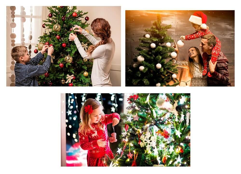 Украшение новогодней Ели всей семьей